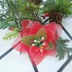 Ünnepi mikulásvirág harisnyából