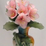 Rózsaszín hortenzia sablon nélkül