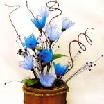 Egyszerű kék harisnyavirág készítése