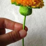 Pitypangvirág készítése egyszerűen, cérnából