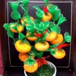 Narancsfa készítése harisnyából