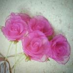 Valentin-napi harisnyavirág rózsa sablonnal