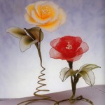 Harisnyavirág rózsa csavart szárral
