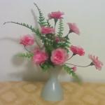Rózsa készítése harisnyából