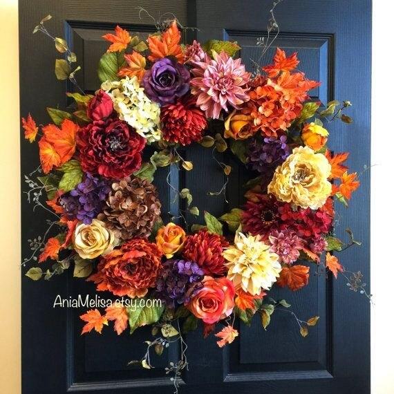 őszi koszorú ajtódísz