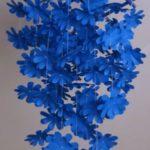 Virágos függődísz papírból