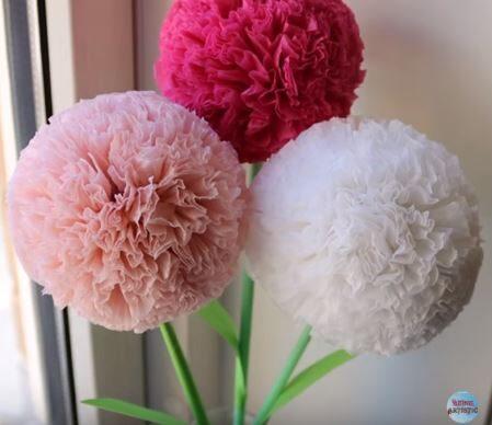 Így készíts virágot szalvétából