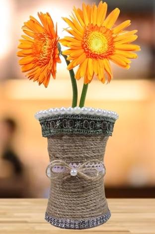 váza cérnából 1