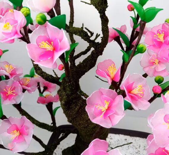 Cseresznyevirág készítése lépésről-lépésre